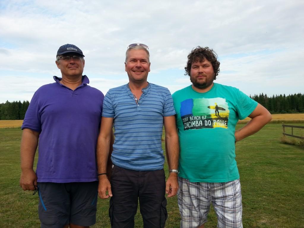 Pallen - her ved Charles, Erik og Stig.