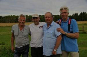 De fire finalistene, f.v. Lennart Arvidsson, Jo Grini, Alf Erik Ross og Espen G.Bakke (foto: Kjell Bentzen)