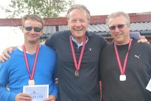 De glade medaljevinnerne. Christian, Lars Petter o